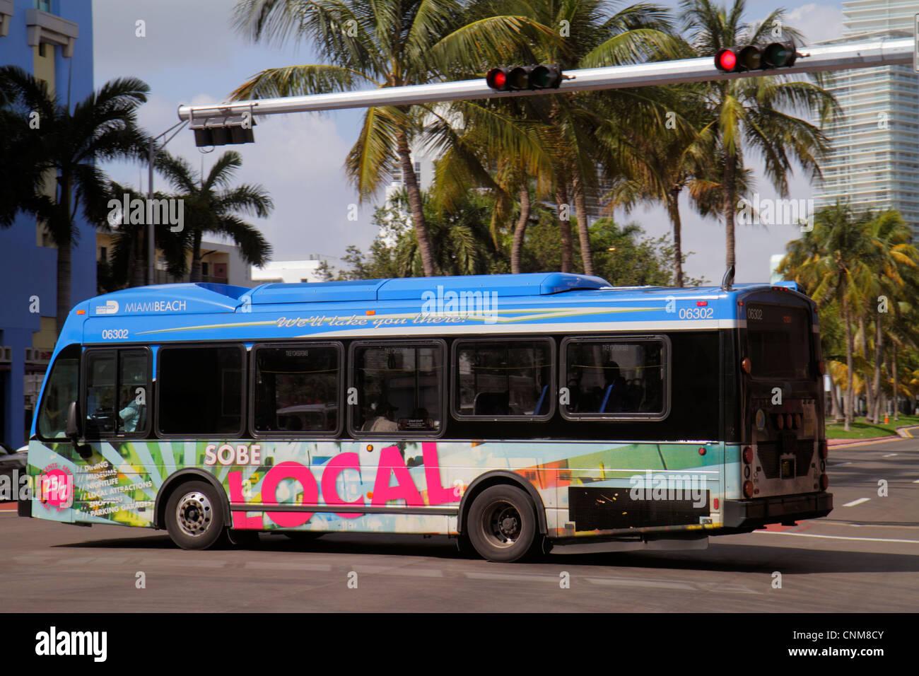 Miami Beach Florida 5th Fifth Street Miami-Dade Transit