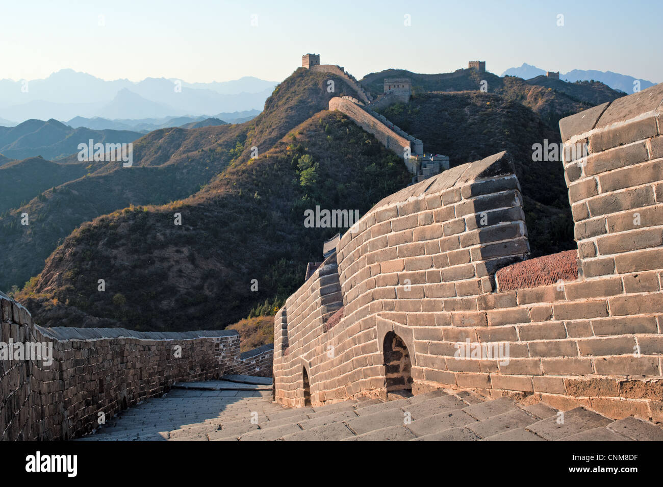Great wall in JinShanling, Hebei province - Stock Image