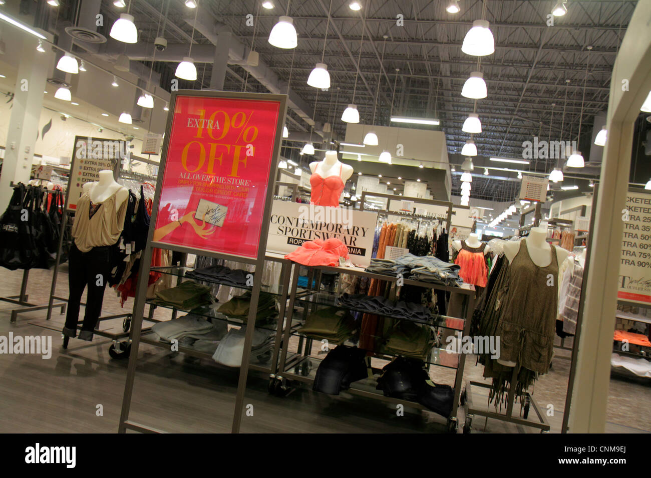 Miami Florida Sweetwater Dolphin Mall shopping Lord   and Taylor Outlet  Store clothing women s retail display c95525653a99d