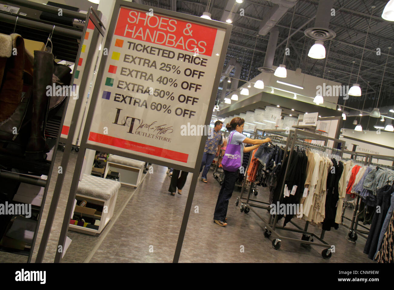 Miami Florida Sweetwater Dolphin Mall shopping Lord   and Taylor Outlet  Store women s retail display for b69d2f733eea8