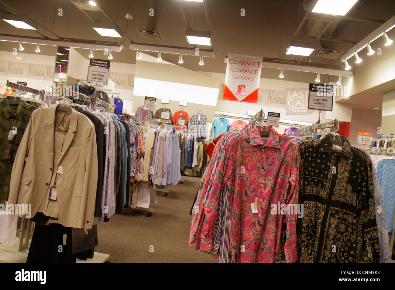 Miami Florida Sweetwater Dolphin Mall shopping Neiman Marcus Last Call Clearance Center centre clothing sale discount - Stock Image