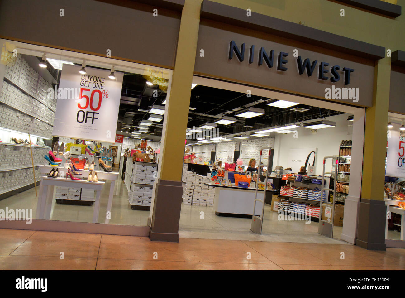 Miami Florida Sweetwater Dolphin Mall shopping Nine West women s shoes  handbags retail display for sale fashion 70cde75de8da9