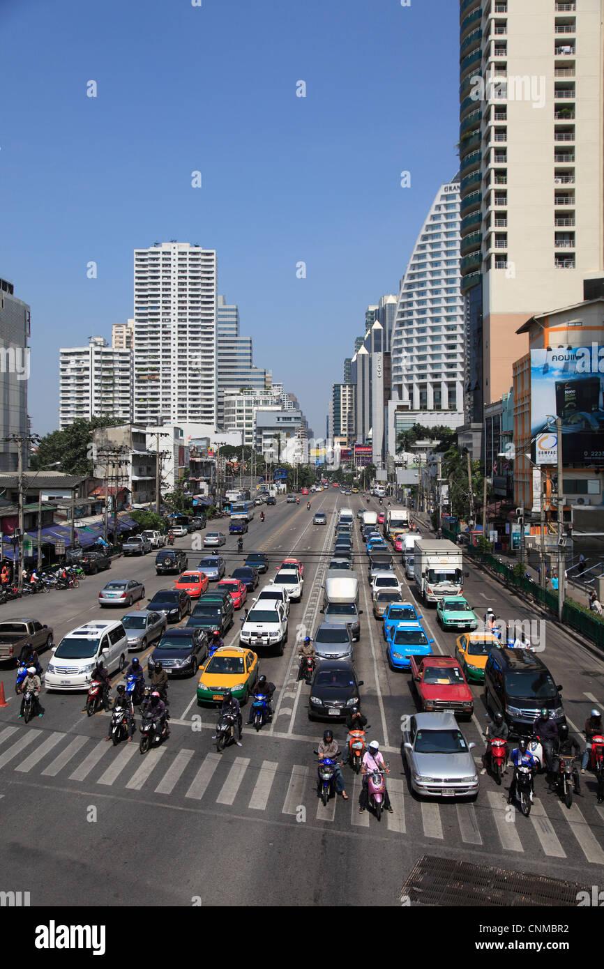 Sukhumvit, an upscale neighbourhood, Bangkok, Thailand, Southeast Asia, Asia - Stock Image