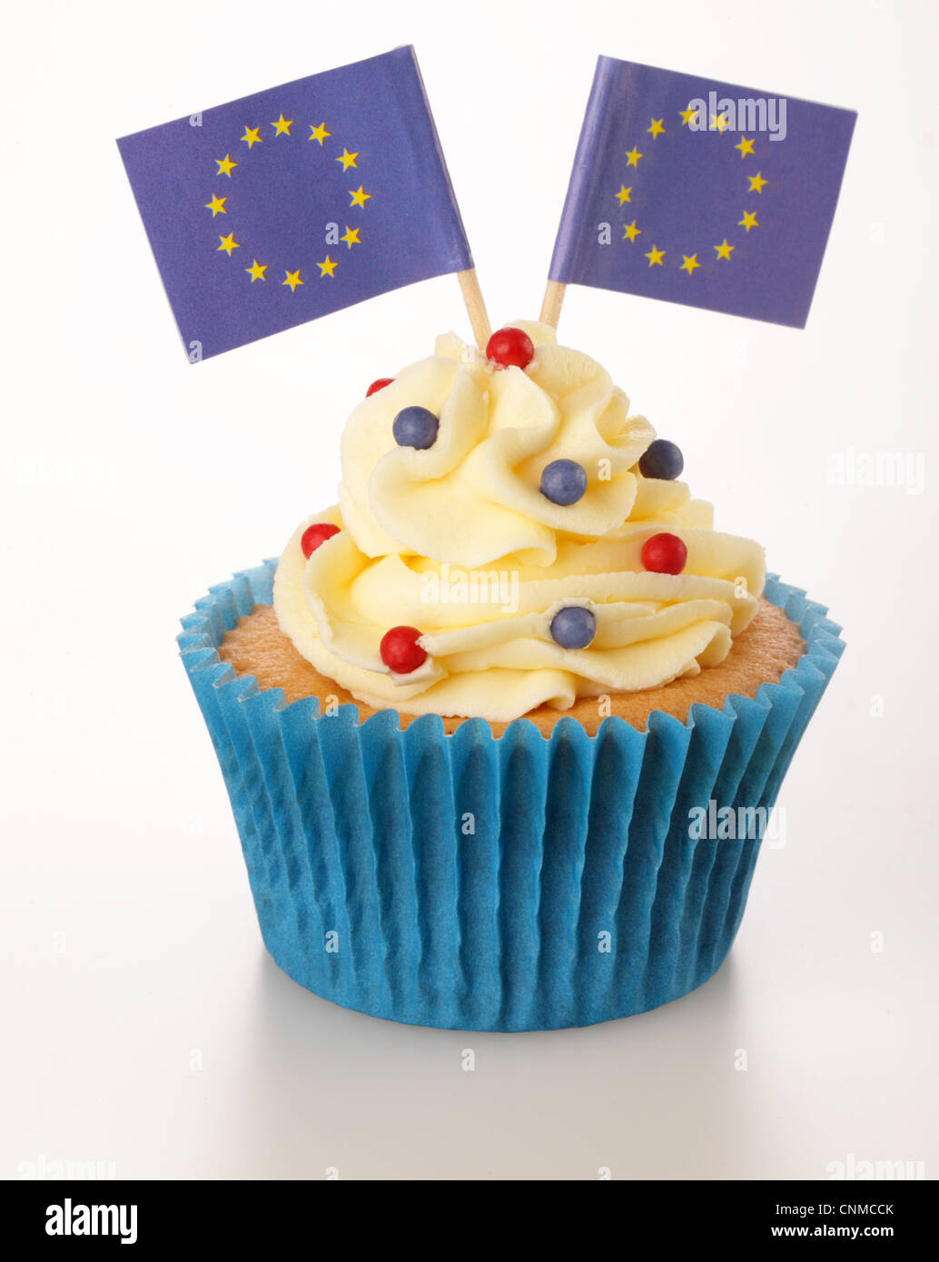 EUROPEAN UNION CUPCAKE - Stock Image