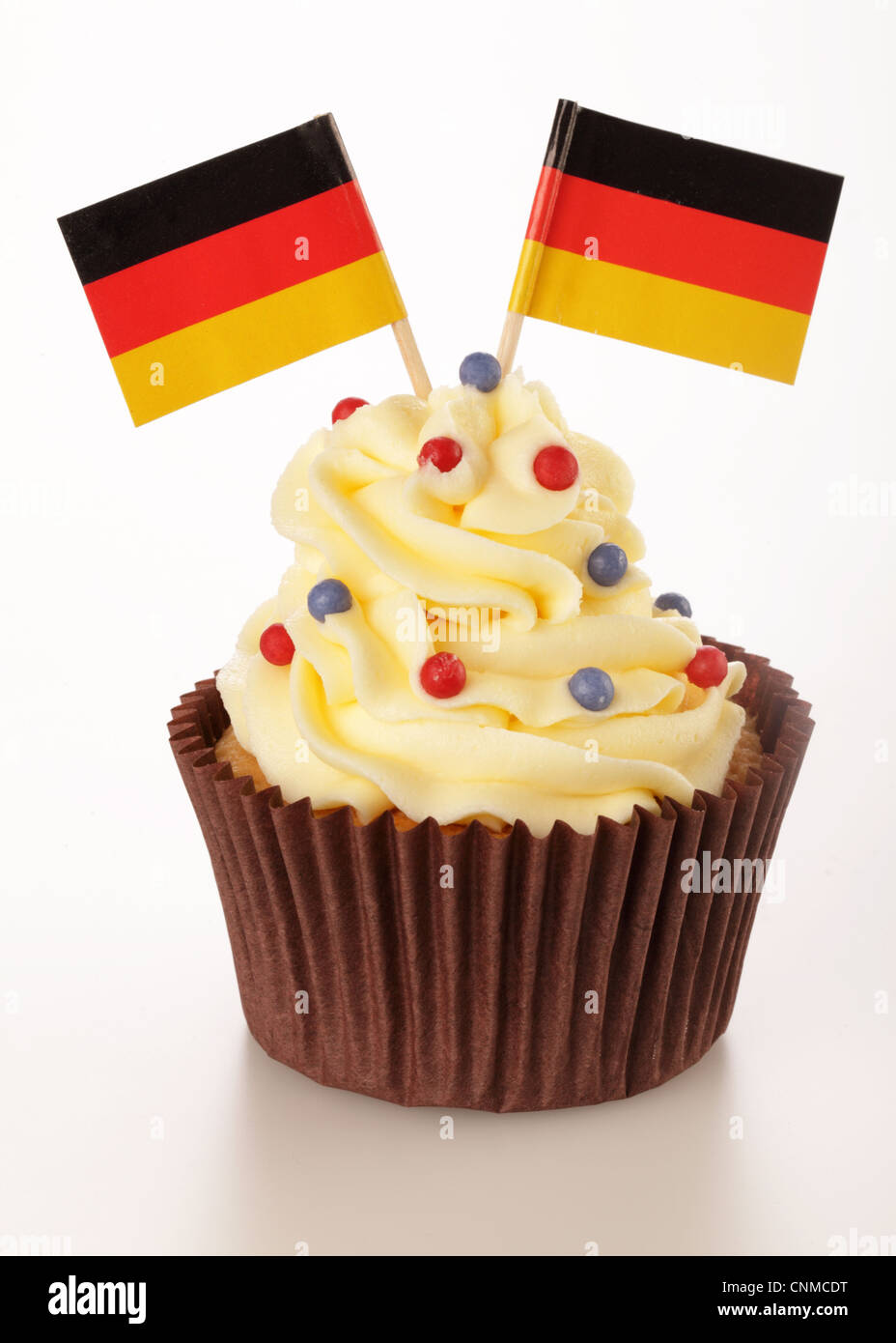 GERMAN FLAG CUPCAKE - Stock Image