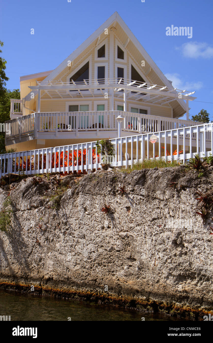 Late Pleistocene Stock Photos Images Alamy Wiring Diagram 160 Key Largo Florida Upper Keys Sound Canal Waterfront Homes Houses Coralline Limestone Reef