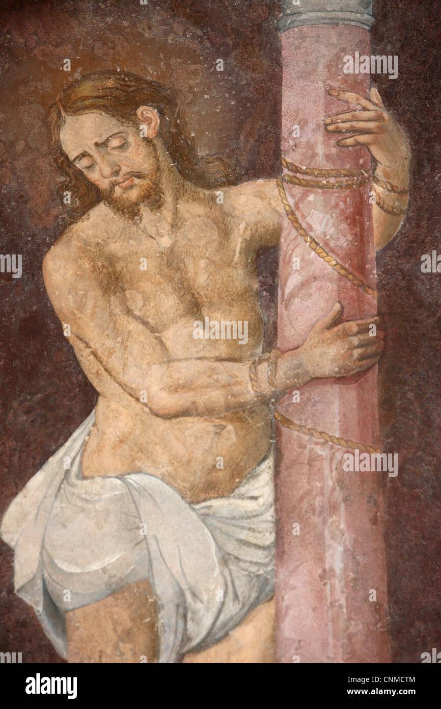Tied Christ, San Jeronimo's church, Madrid, Spain, Europe - Stock Image
