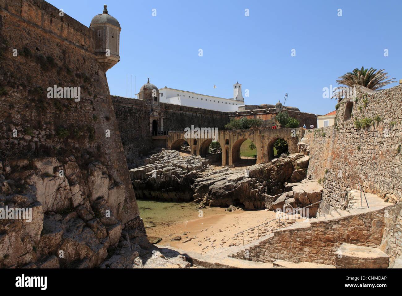The Fortaleza de Peniche (Fortress of Peniche), Peniche, Estremadura, Portugal, Europe - Stock Image
