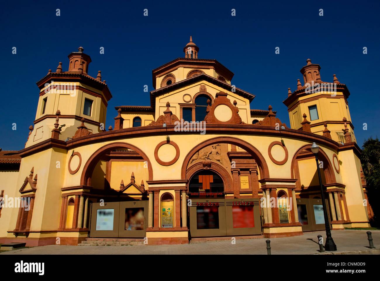 El mercat de les flors, Teatre Lliure ,Montjuic, Barcelona, Catalonia, Spain - Stock Image