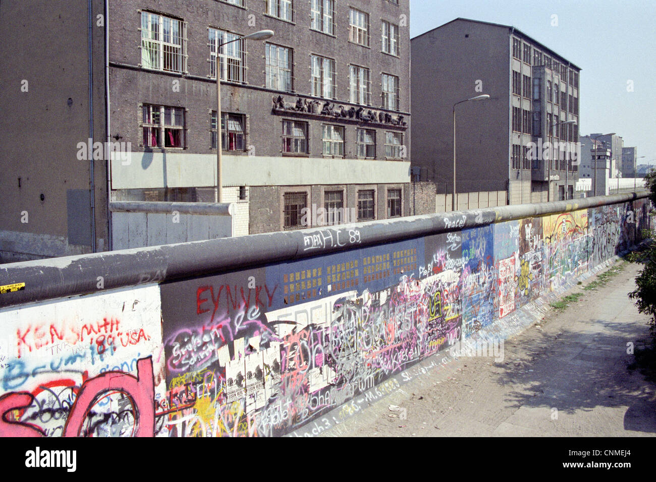 Checkpoint Charlie at Friedrichstrasse - Berlin Wall 1989 - Stock Image