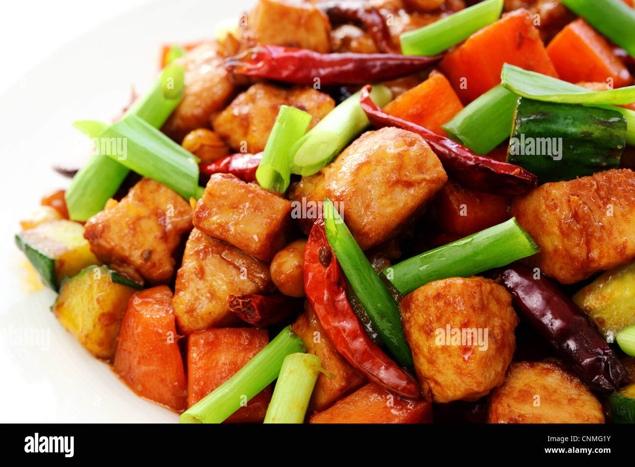 Chinese food,kung pao chicken. Stock Photo