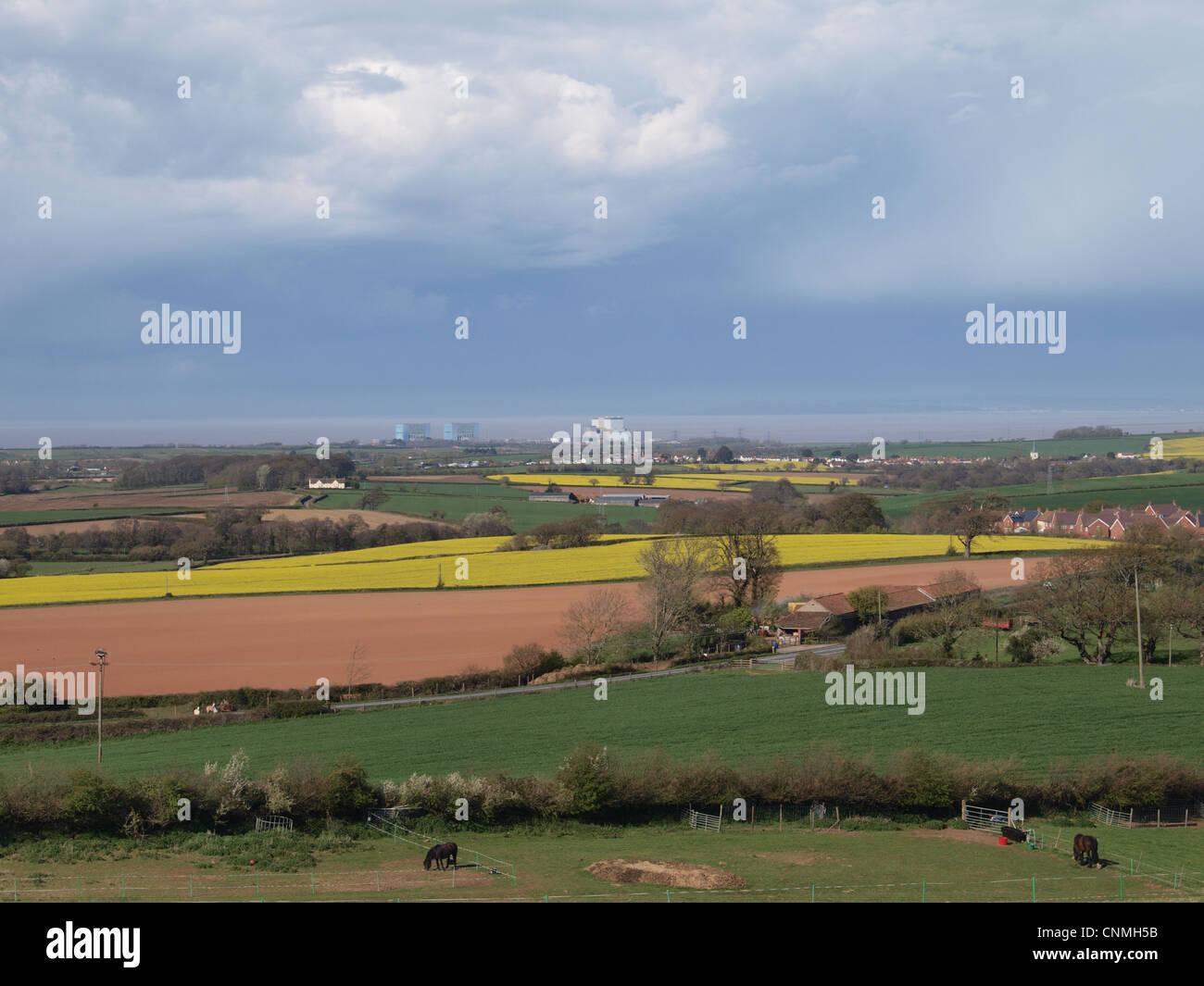Hinkley  Point  Nuclear Power Station. Somerset. UK Stock Photo