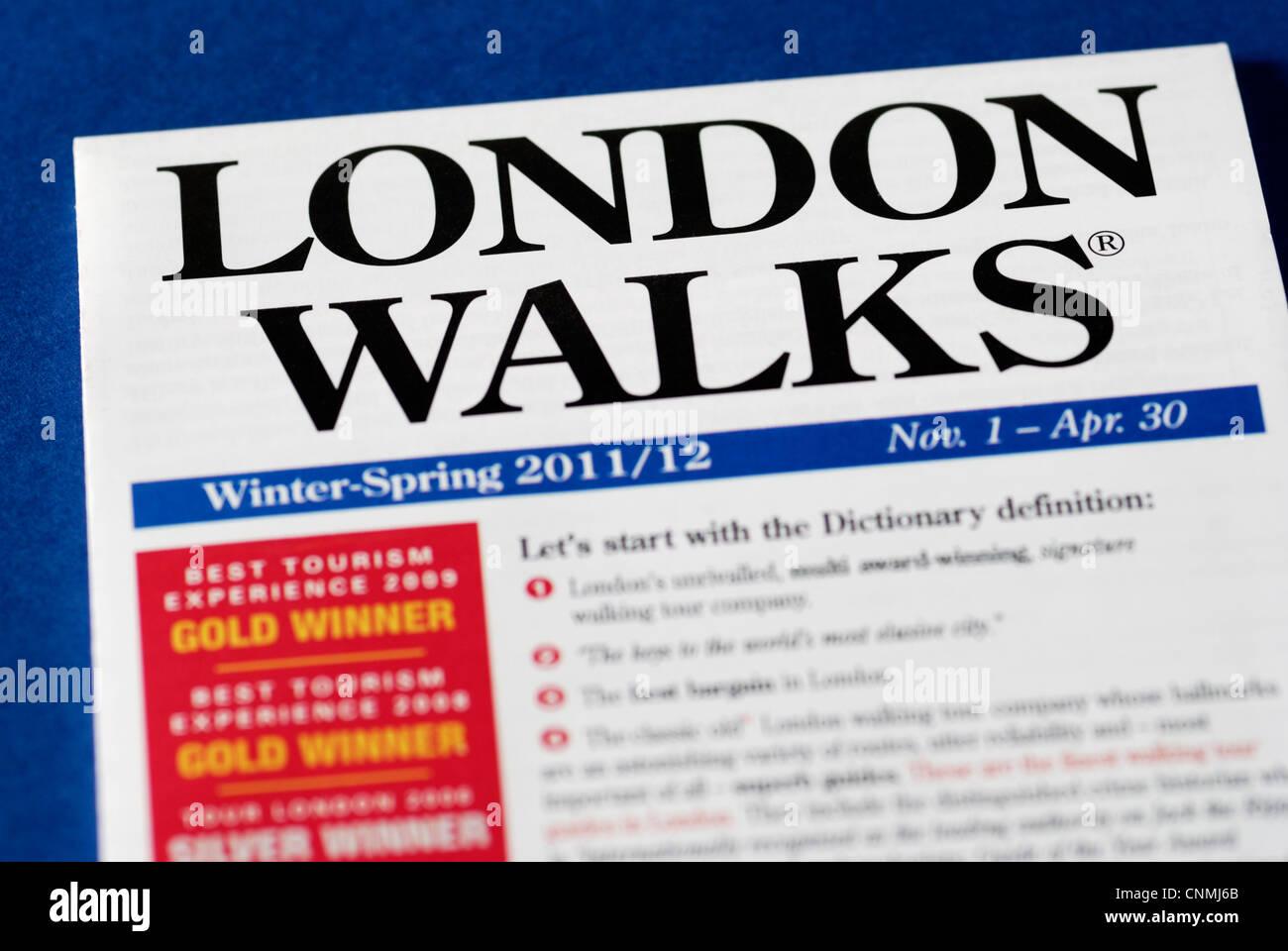 london walks urban walking tour company pamphlet stock photo
