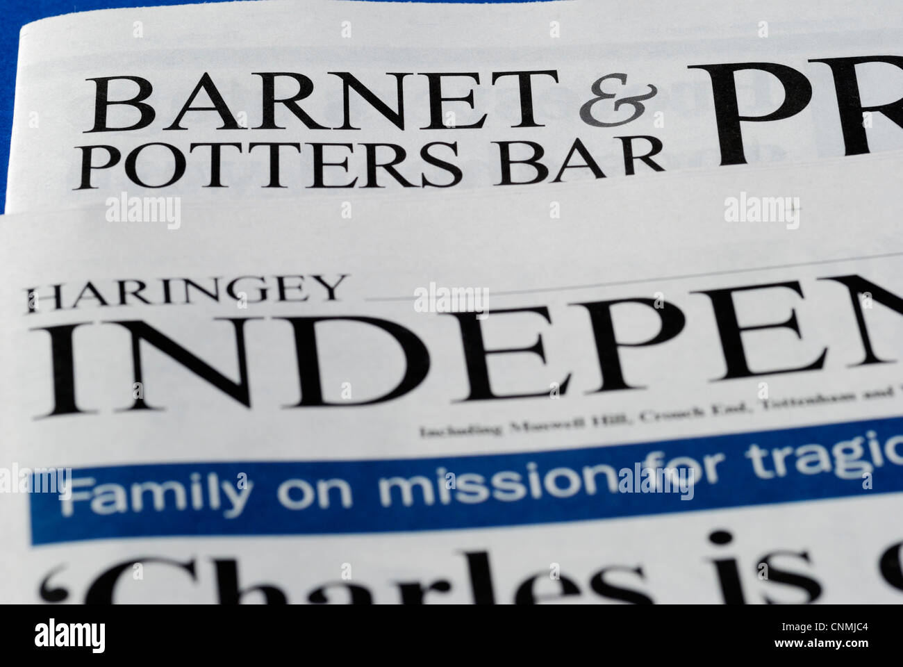 Free London and Home Counties local newspapers - Stock Image