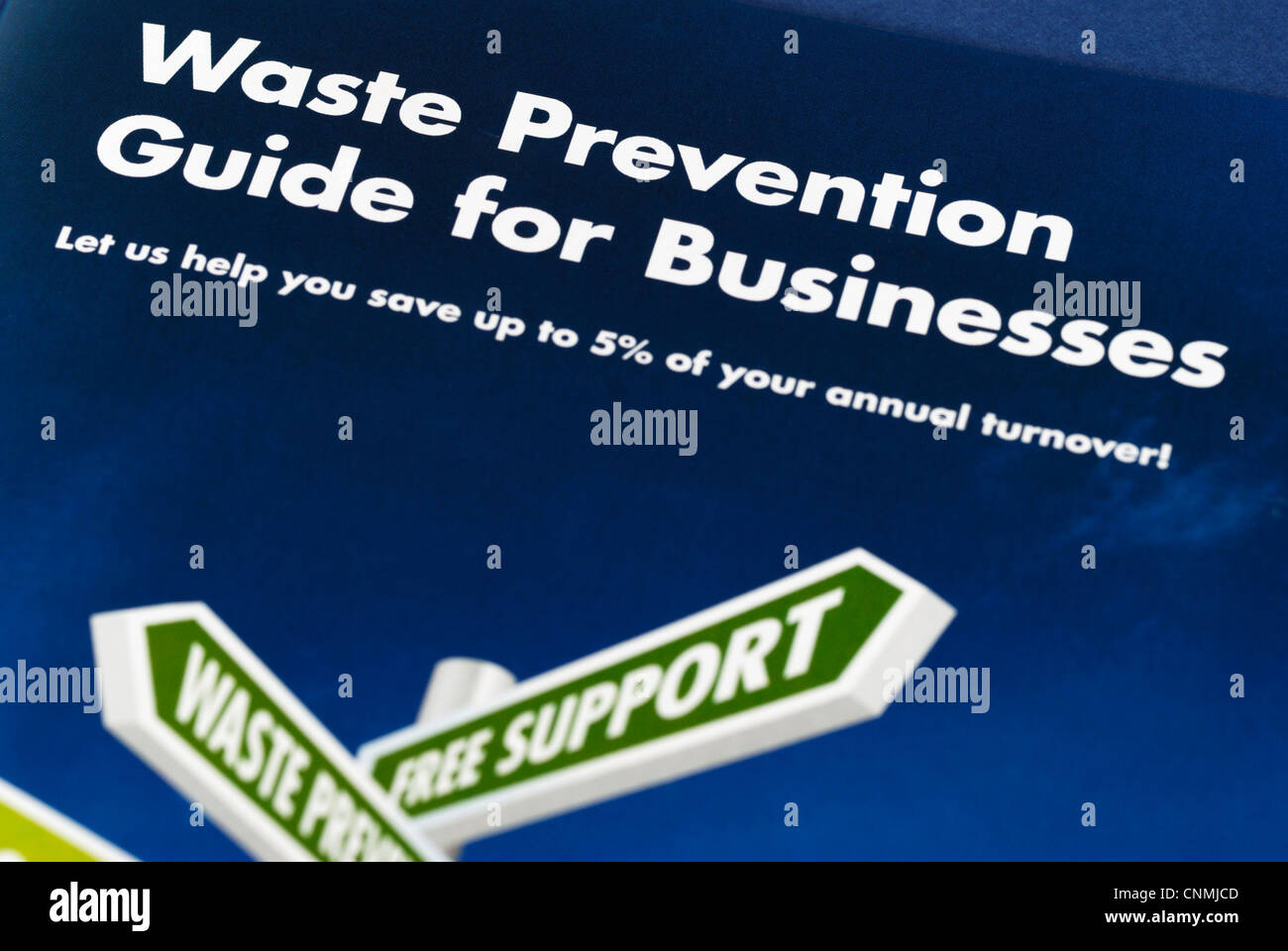 Waste prevention guide for businesses - Stock Image