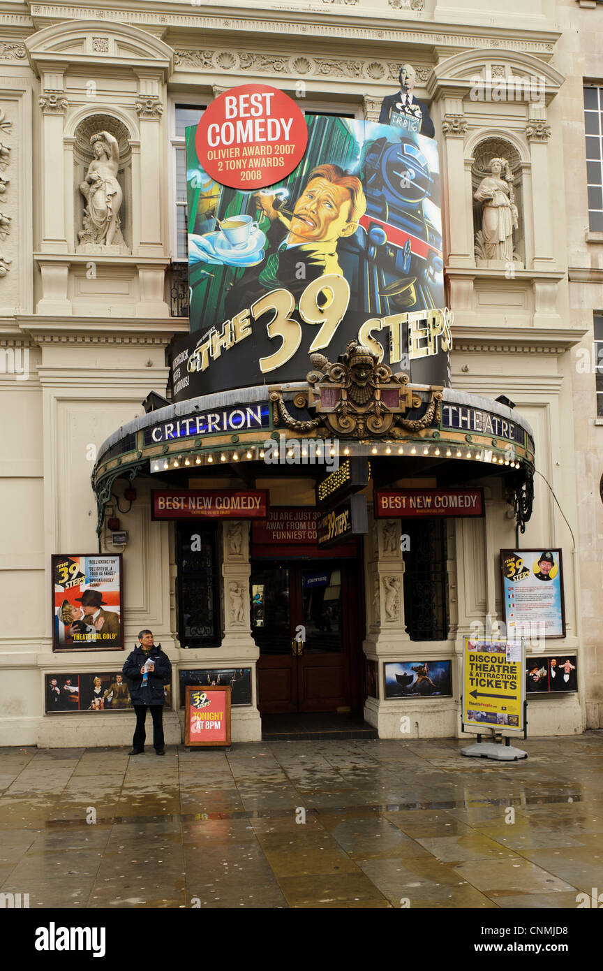 Criterion Theatre, Piccadilly Circus, London England - Stock Image