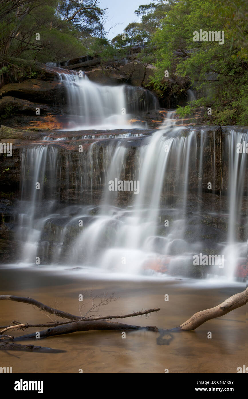 Wentworth Falls in the Blue Mountains near Sydney - Stock Image