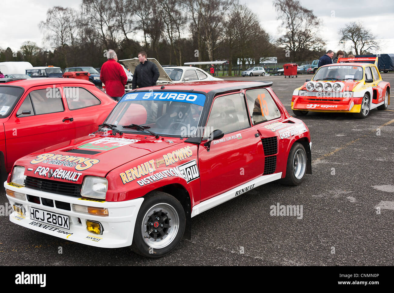 Renault 5 Turbo and Mini Metro 6R4 Rally Cars in the Paddock at ...