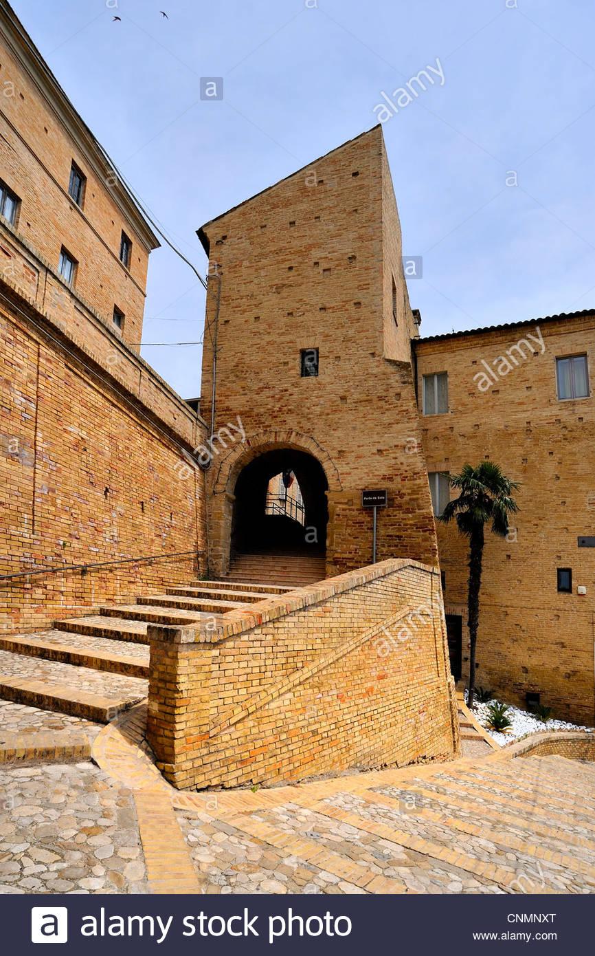 porta del sole,lapedona,marche,italy - Stock Image