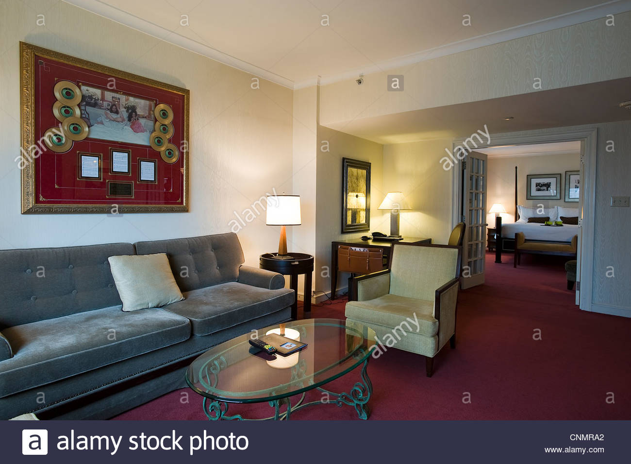 fairmont the queen elizabet,bed-in,room 1742 where john lennon and yoko ono wrote and recorded the song give peace - Stock Image