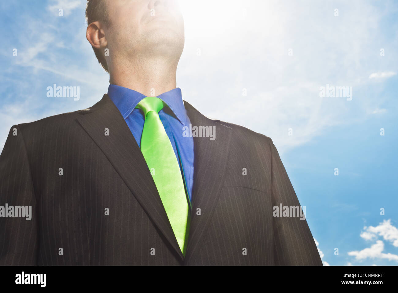 Close up of businessman's suit - Stock Image