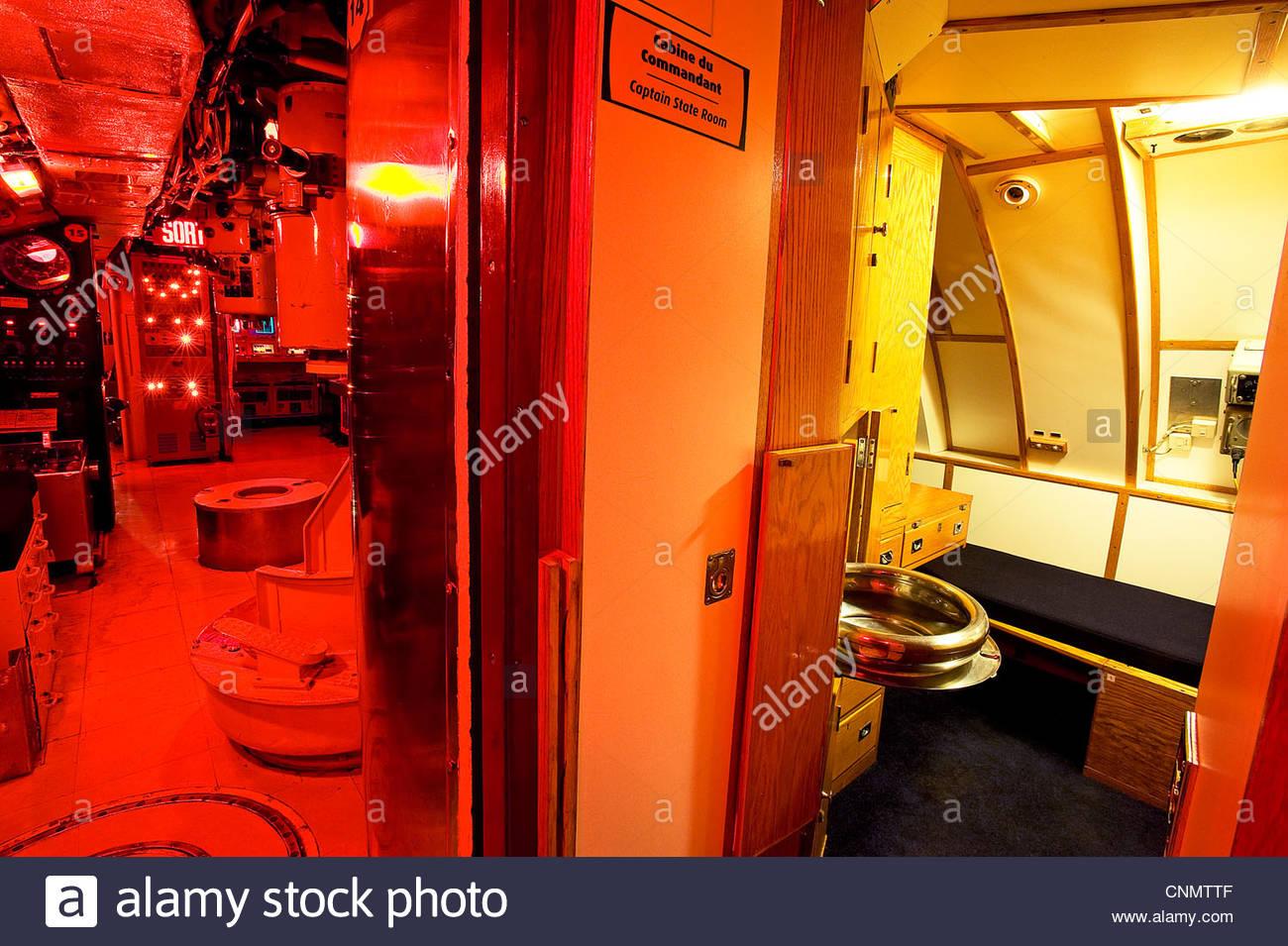submarine onondaga,pointe au pere,bas saint laurent,quebec,canada Stock Photo