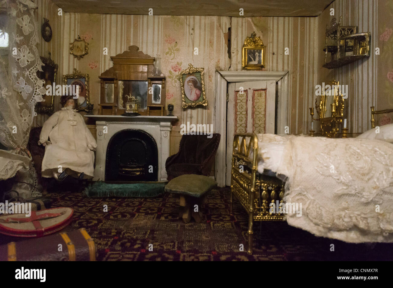Victorian Style Old Dollu0027s House Interior   Stock Image