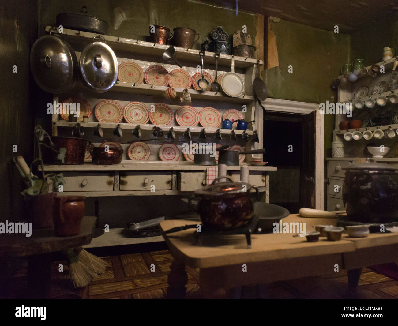 Victorian Style Old Dolls House Interior Kitchen