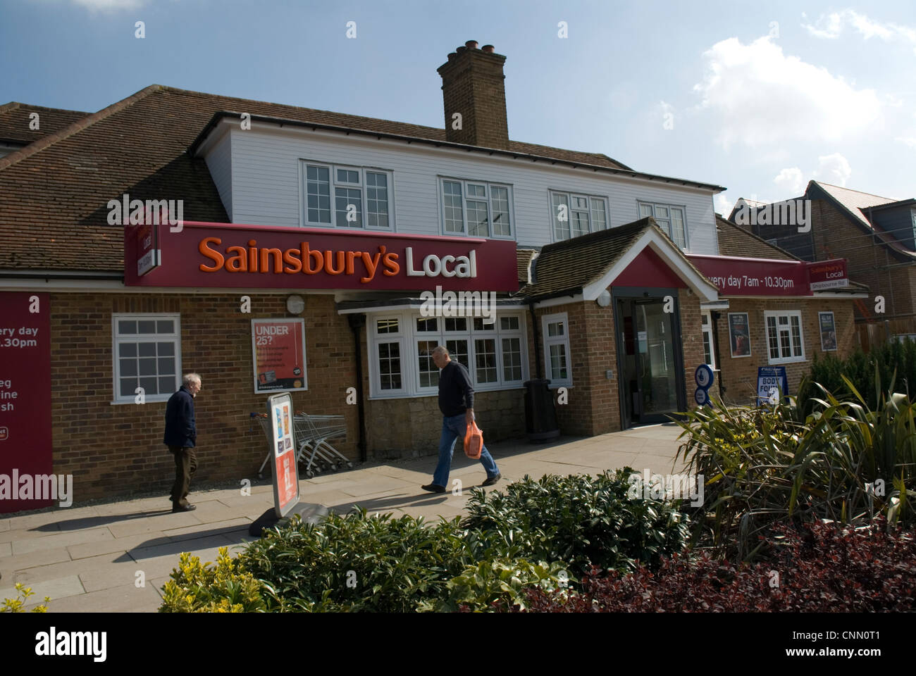 Sainsbury's Local converted public house converted pub formerly The Bishop's Oak Shipbourne Road Tonbridge - Stock Image