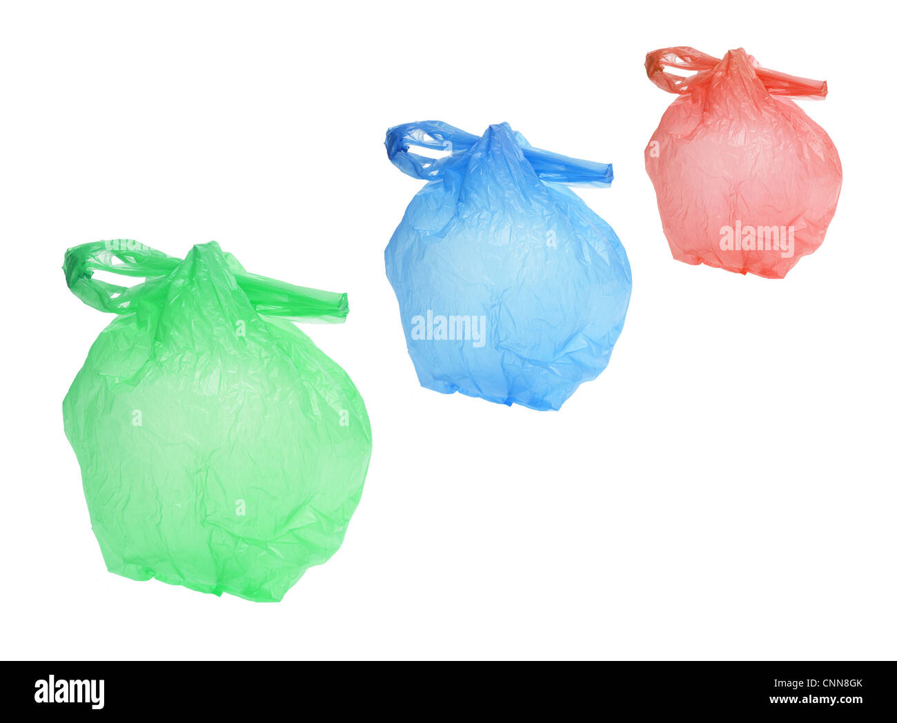 Row of Plastic Bags - Stock Image