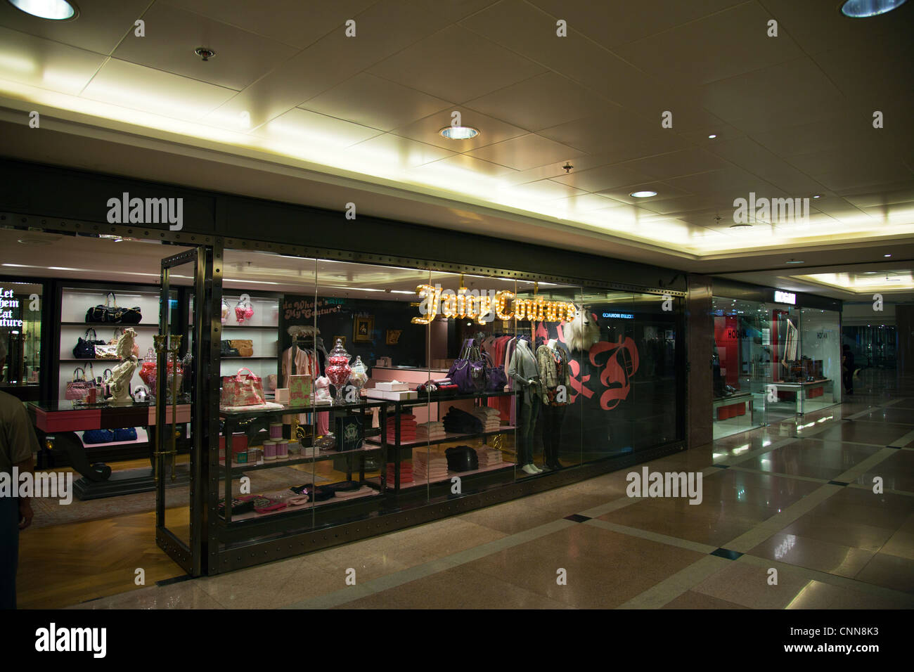 Harbor Harbour city ocean terminal, Kowloon, Hong Kong, China shopping centre center. inside shop juicy couture - Stock Image
