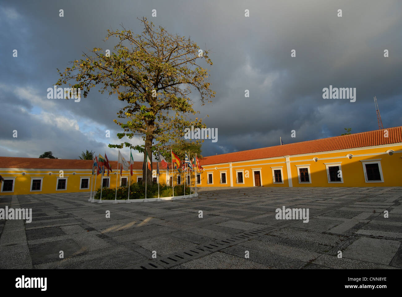 'Casa Europa' in Dili Timor Leste,  a former Portuguese barracks it  housed the European Union Delegation. - Stock Image