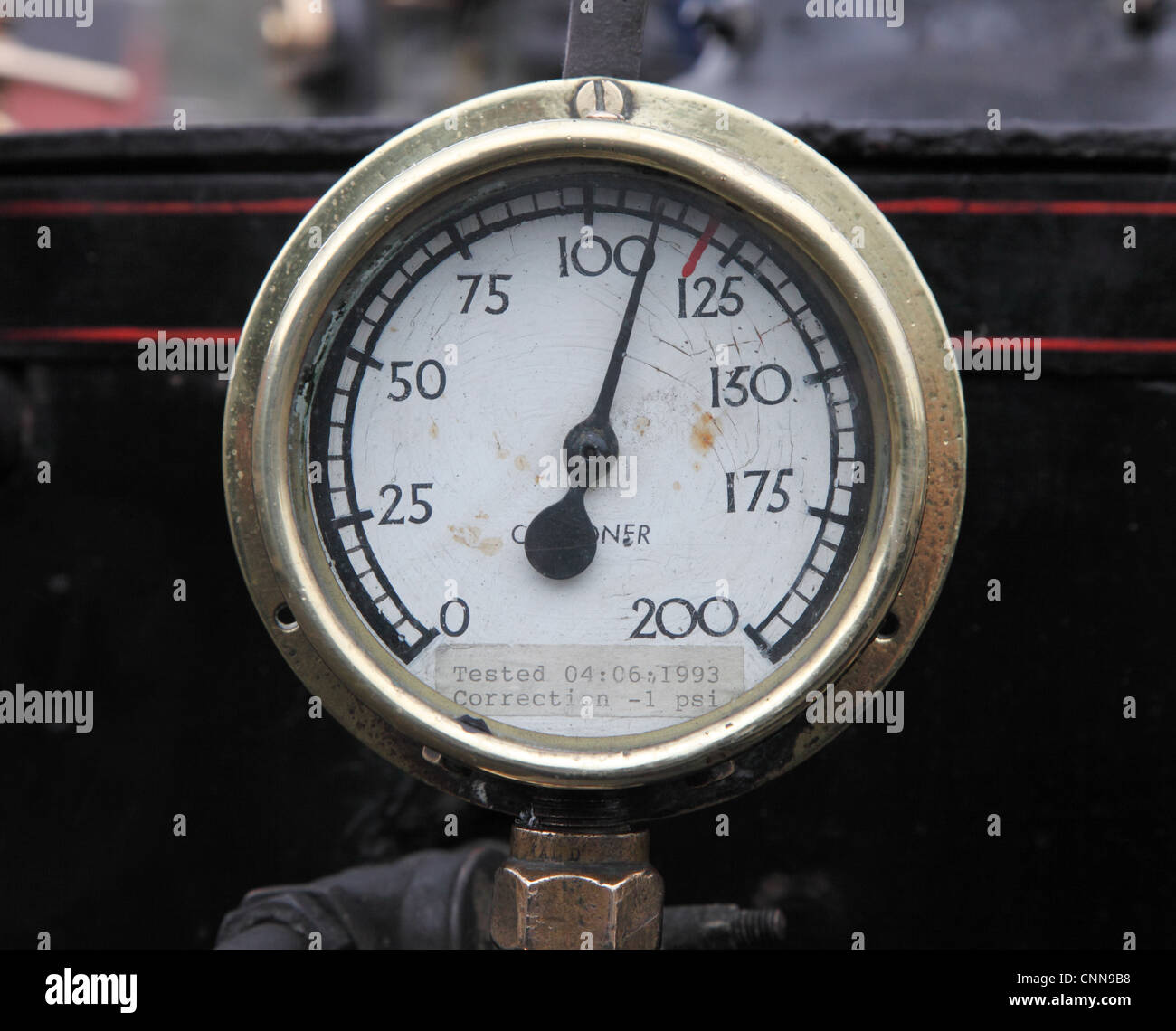 A boiler steam pressure gauge North of England Open Air Museum Stock ...