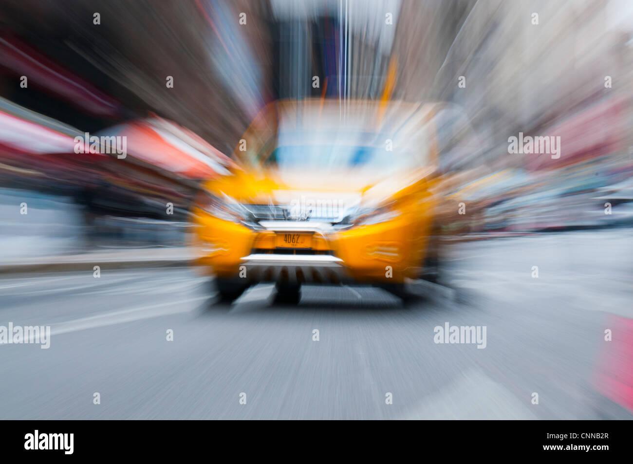 NYC taxicab - Stock Image