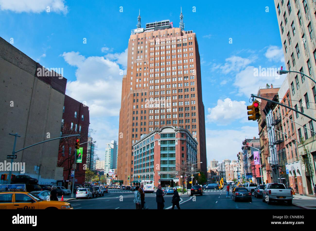New York City buildings high rises - Stock Image