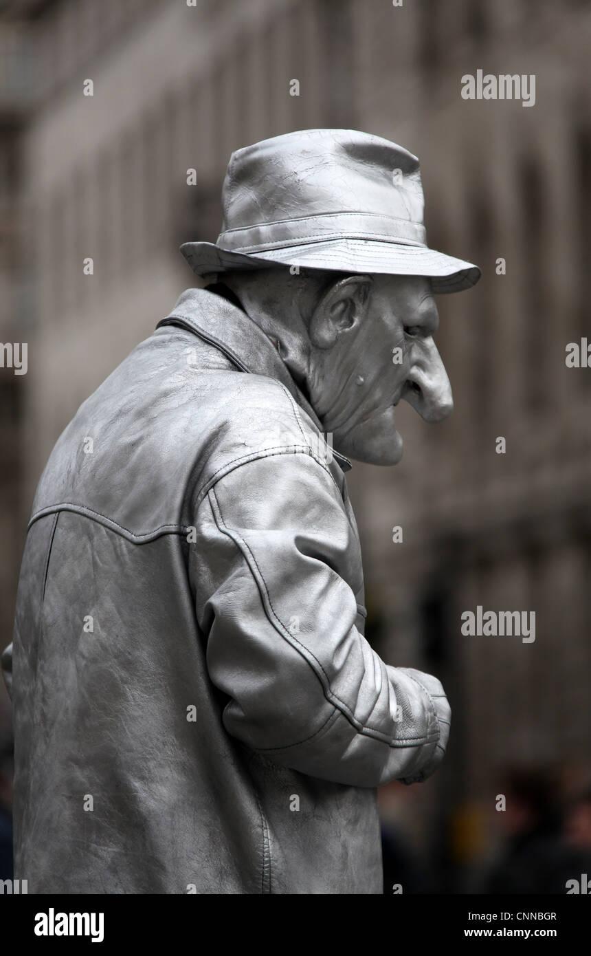 Living Statue - Stock Image
