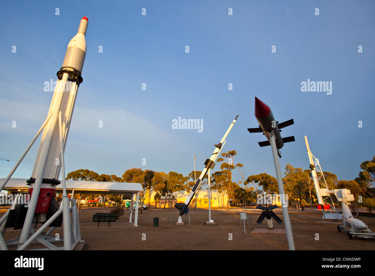 Woomera Rocket, missile, Airforce and Space display. South Australia. - Stock Image