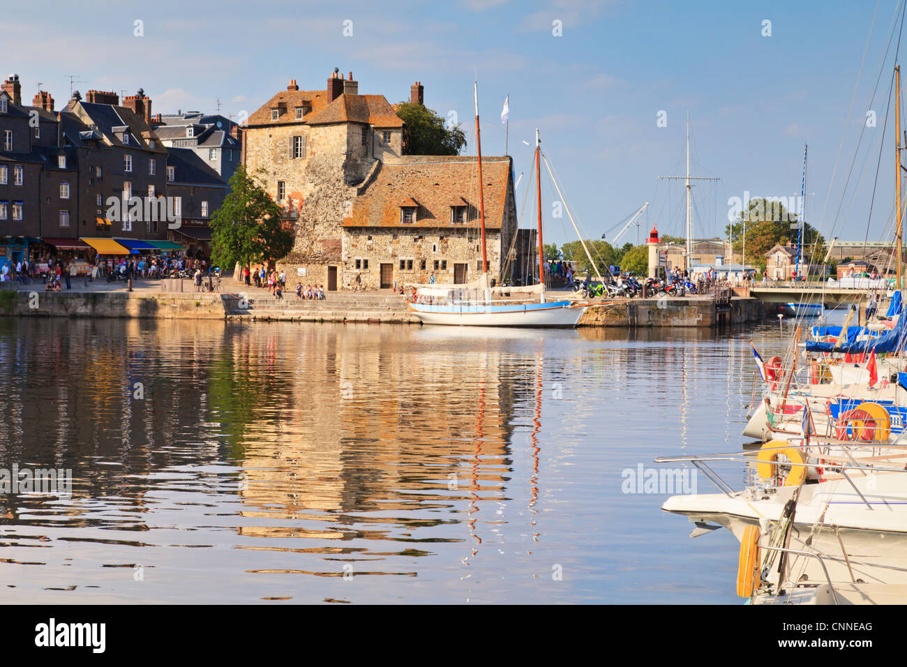 The harbour at Honfleur, Normandy, France - Stock Image