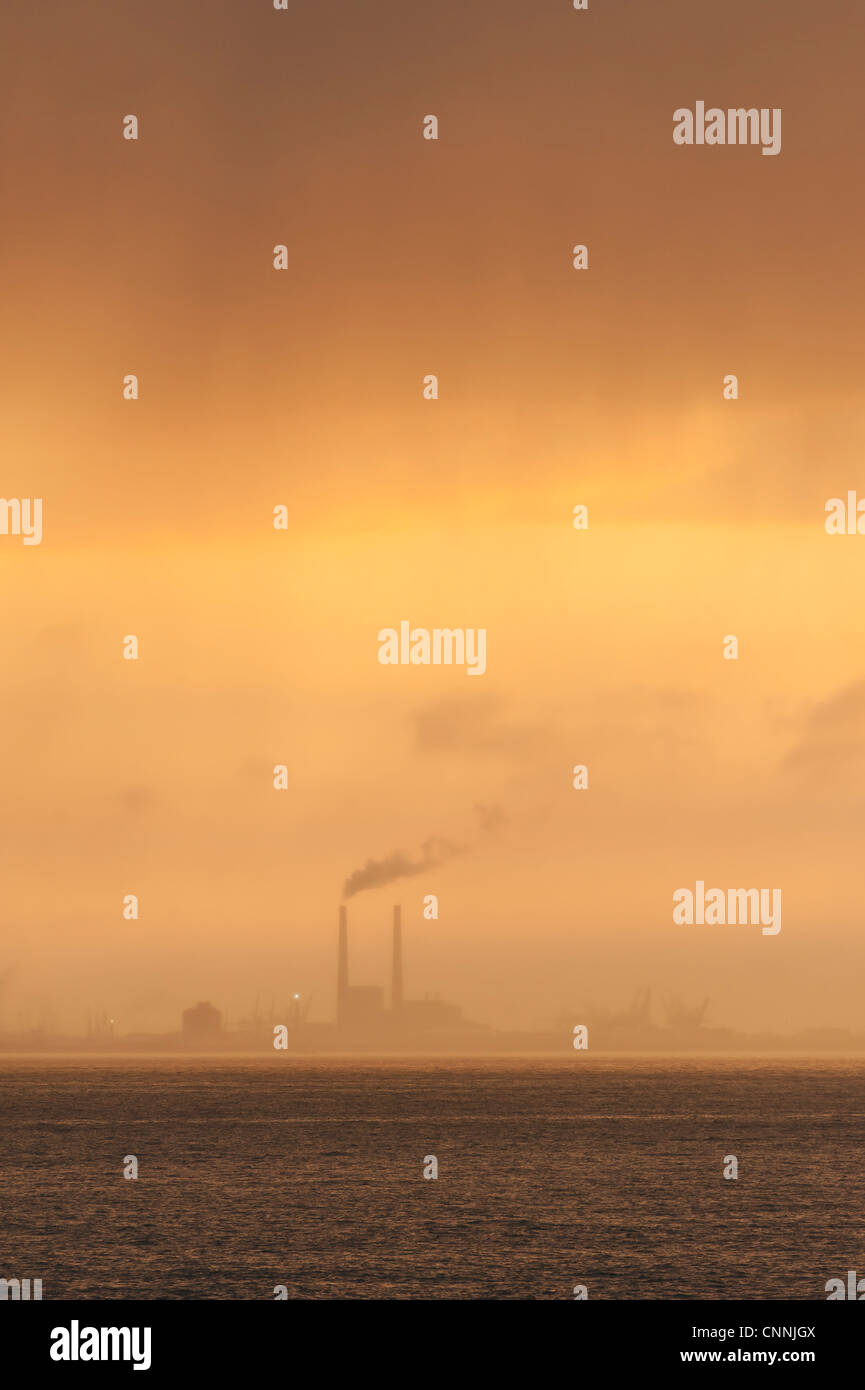 Air pollution of industry green house effect global warming - Stock Image