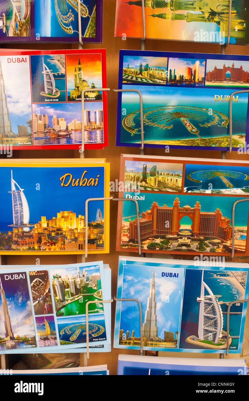 Dubai UAE postcards, deira dubai, uae - Stock Image