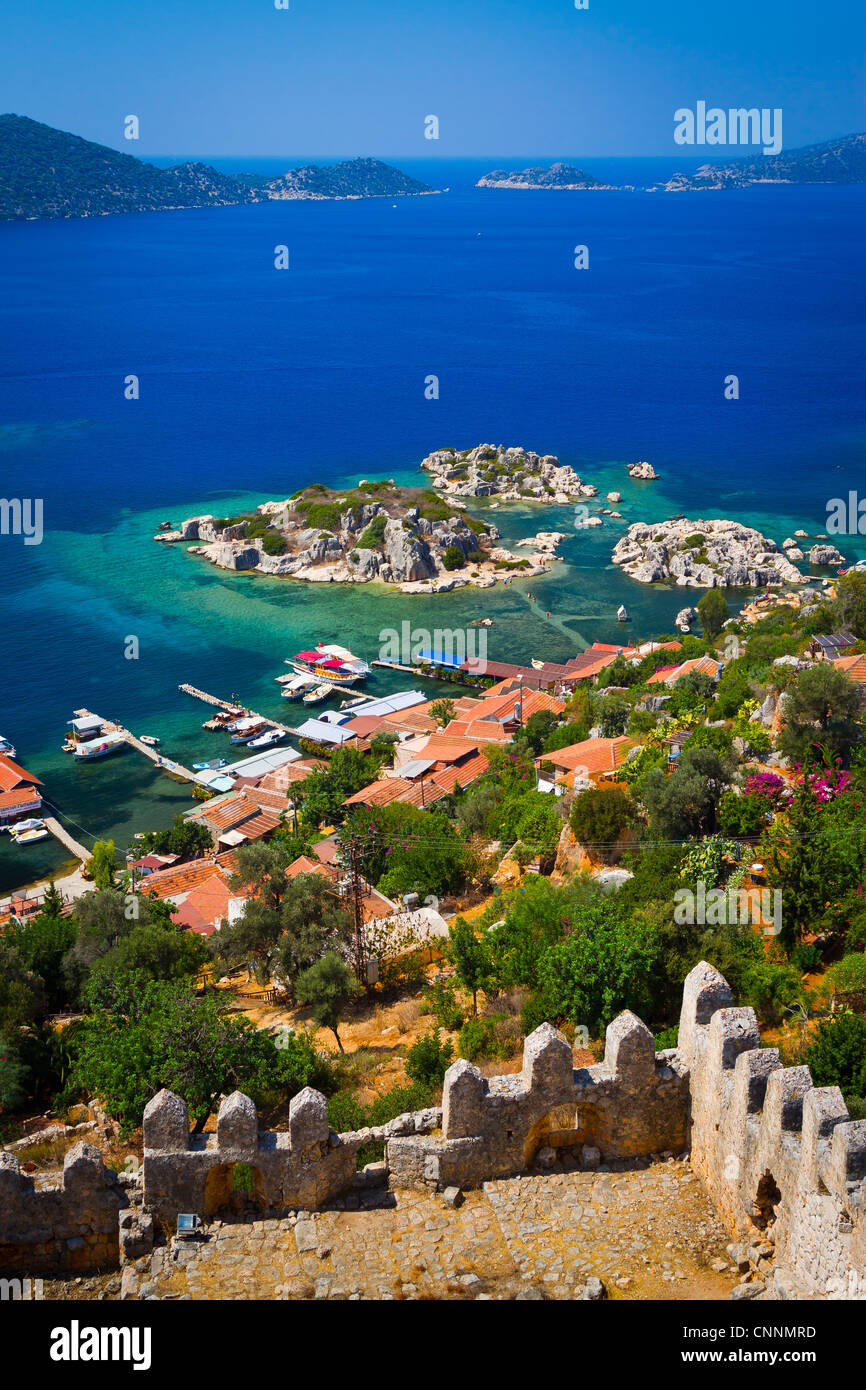 Kaleköy. Antalya province. Mediterranean coast. Turkey. - Stock Image