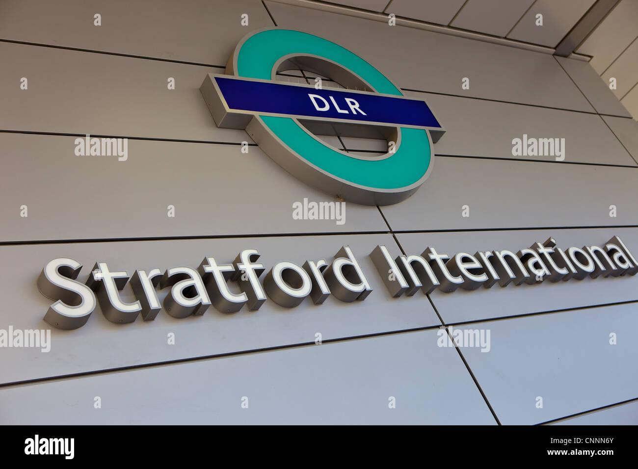 Stratford international station DLR - Stock Image