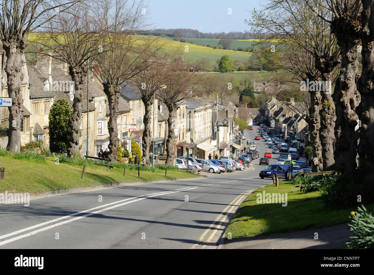 Burford High Street Cotswolds - Stock Image
