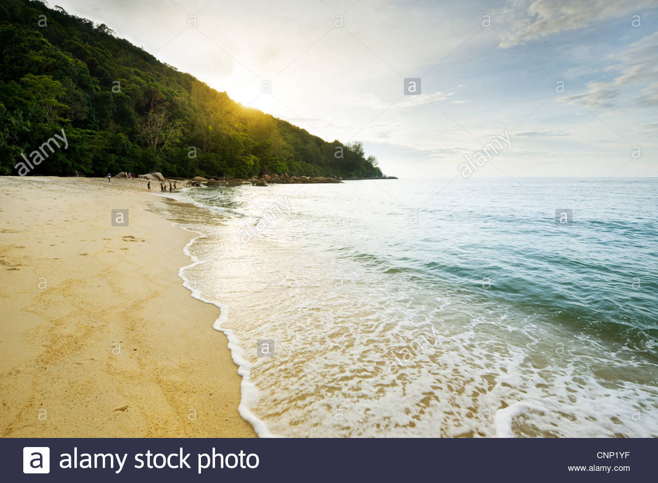 Beach, North West Penang, Malaysia - Stock Image