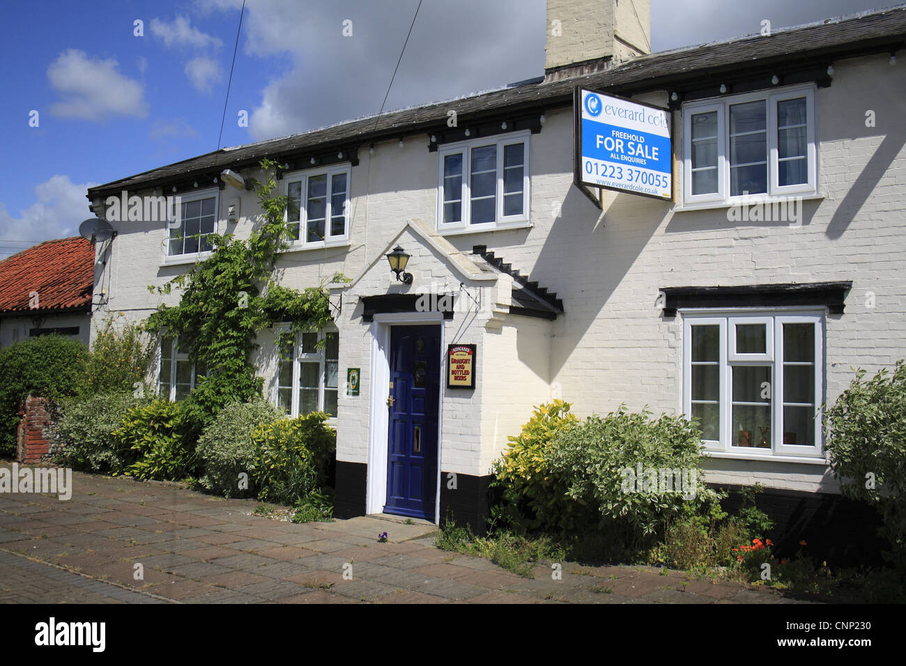 Public house for sale, The White Horse, Thelnetham, Suffolk, England, may Stock Photo