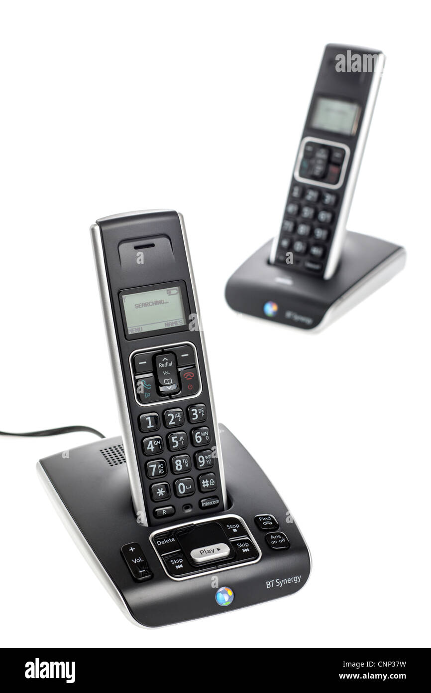 Twin BT Synergy 5500 cordless answer phone - Stock Image