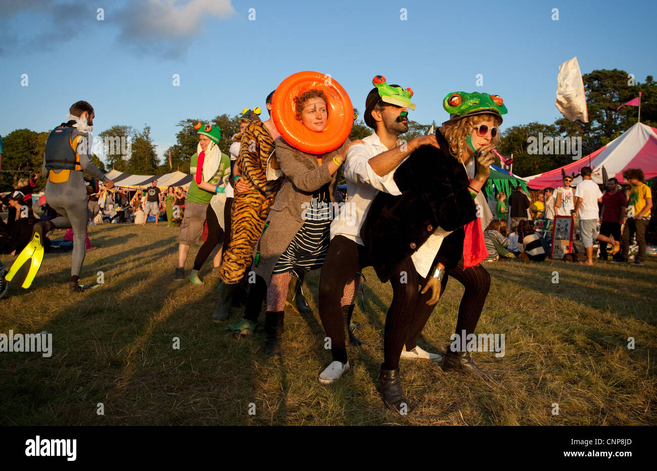 Performers at Playgroup Festival, listed as one of the UK's top ten Boutique festivals by Société - Stock Image