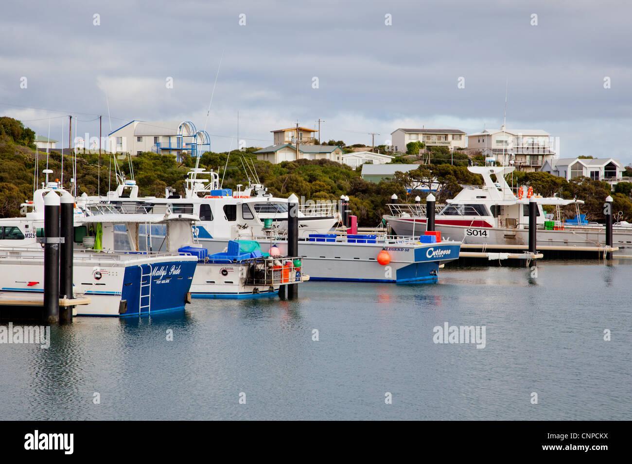 Robe Marina. Limestone Coast. South East. South Australia. - Stock Image