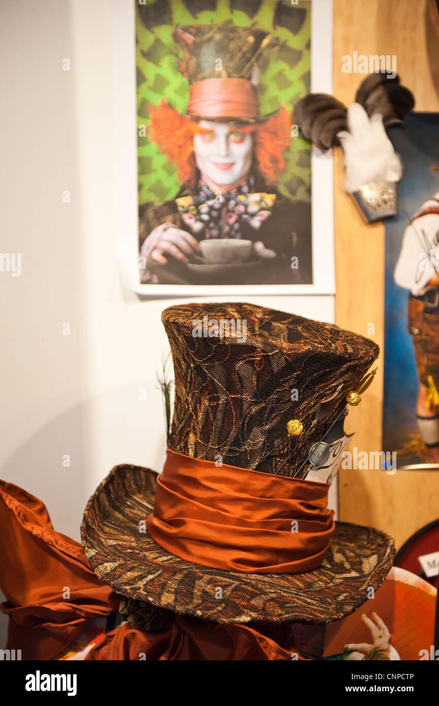 Der Hutmacher store that made Johnny Depp's Mad Hatter hat for Alice and Wonderland movie Regensburg, Germany. - Stock Image