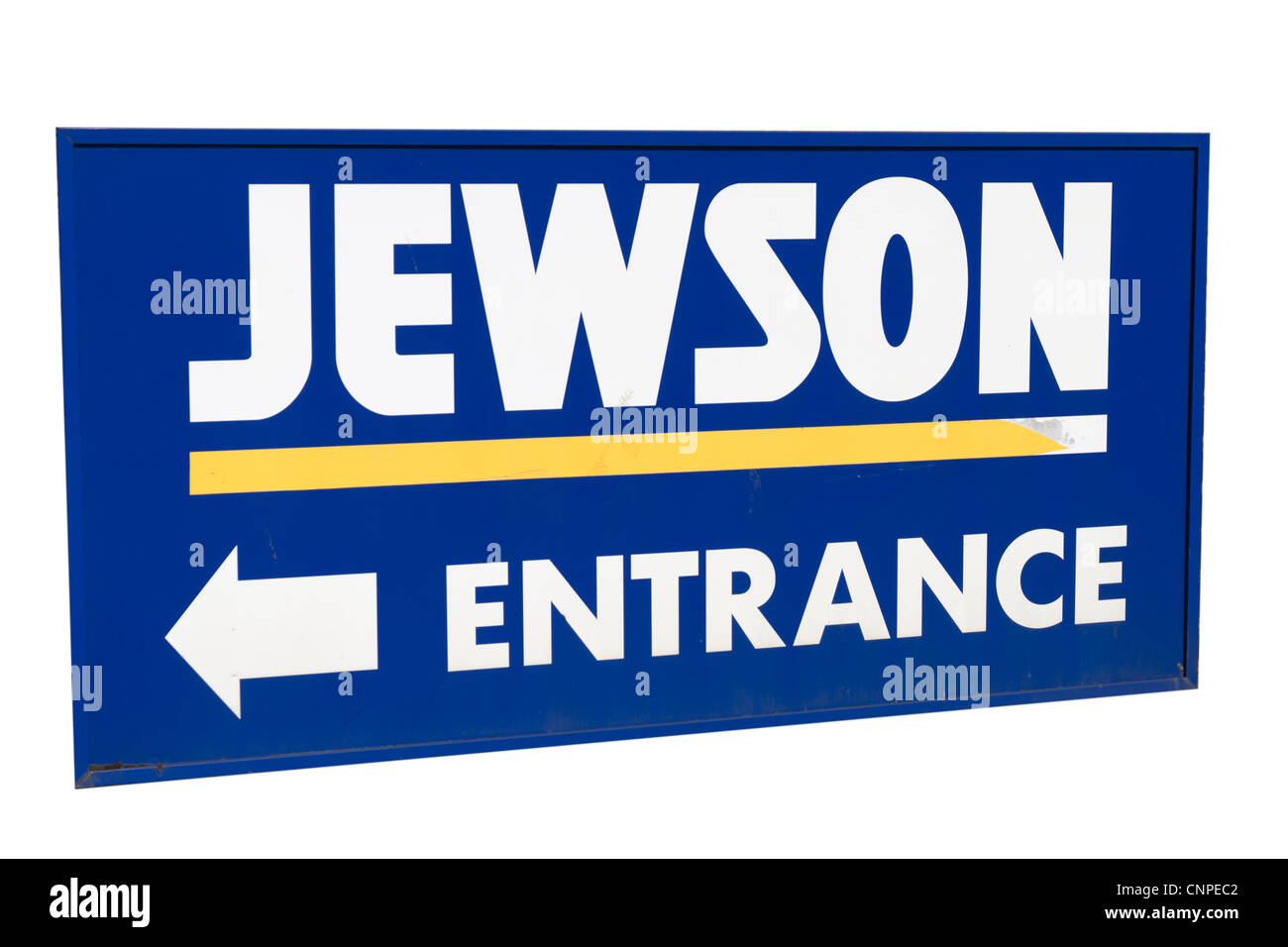 Sign showing the location of Jewson building materials yard Stock Photo